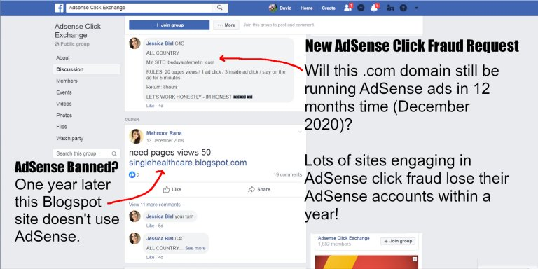 AdSense Click Exchange Networks