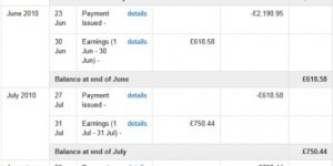 AdSense Earnings Proof 2010