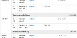 AdSense Earnings Proof 2011