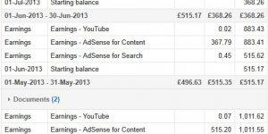 AdSense Earnings Proof 2013
