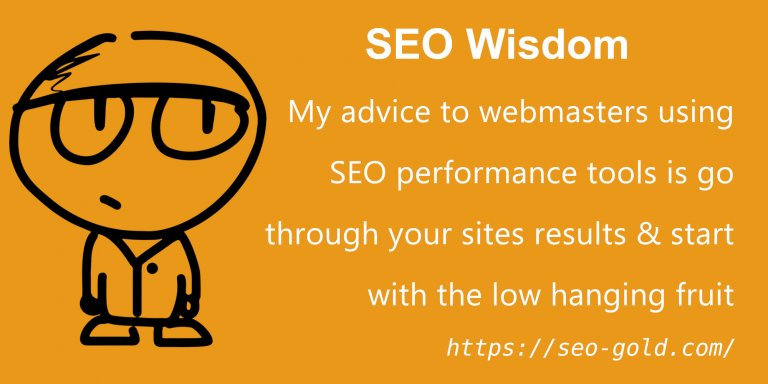 Advice to Webmasters Using SEO Performance Tools