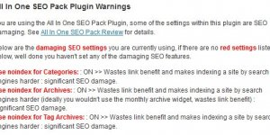 All In One SEO Pack Plugin SEO Damage
