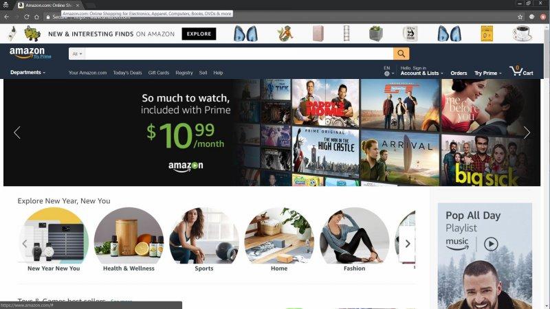 Amazon US Website Title Tag