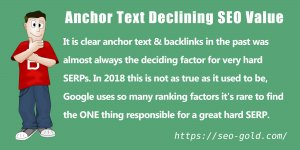 Anchor Text Declining SEO Value