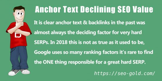 Anchor Text Declining SEO Value