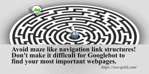 Avoid Maze Like Navigation Link Structures
