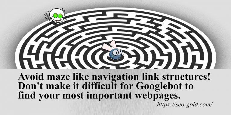 Avoid Maze Like Navigation Link Structures