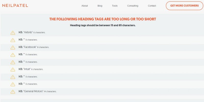 Bad SEO Advice Heading Tags Should be Between 15 and 65 Characters