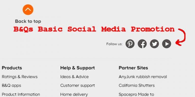 B&Q Social Media Promotion Links
