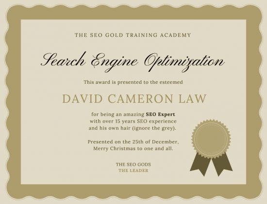 Best SEO Training Certificate