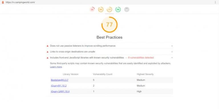 Bootstrap 3.3.7 Vulnerabilities