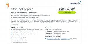 British Gas One Off Boiler Repair from £99