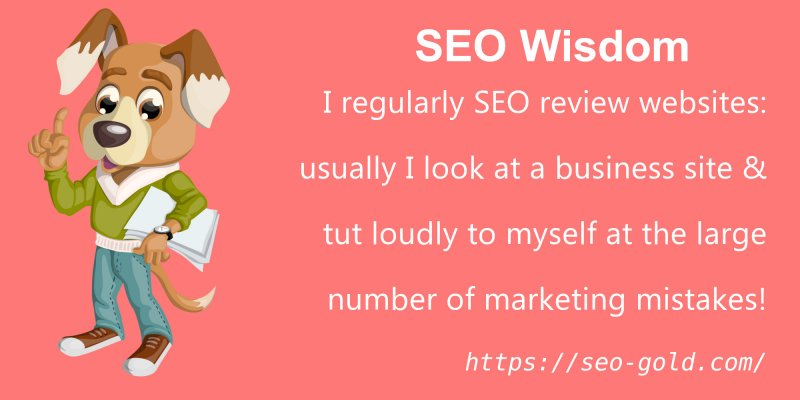 Business Sites with SEO Marketing Mistakes
