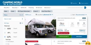 Camping World Class C Motorhomes for Sale