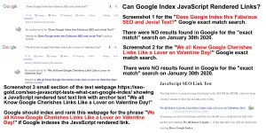 Can Google Index JavaScript Rendered Links, Before Screenshots?