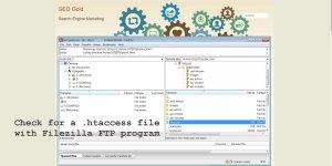 Check for a .htaccess File with Filezilla FTP Program