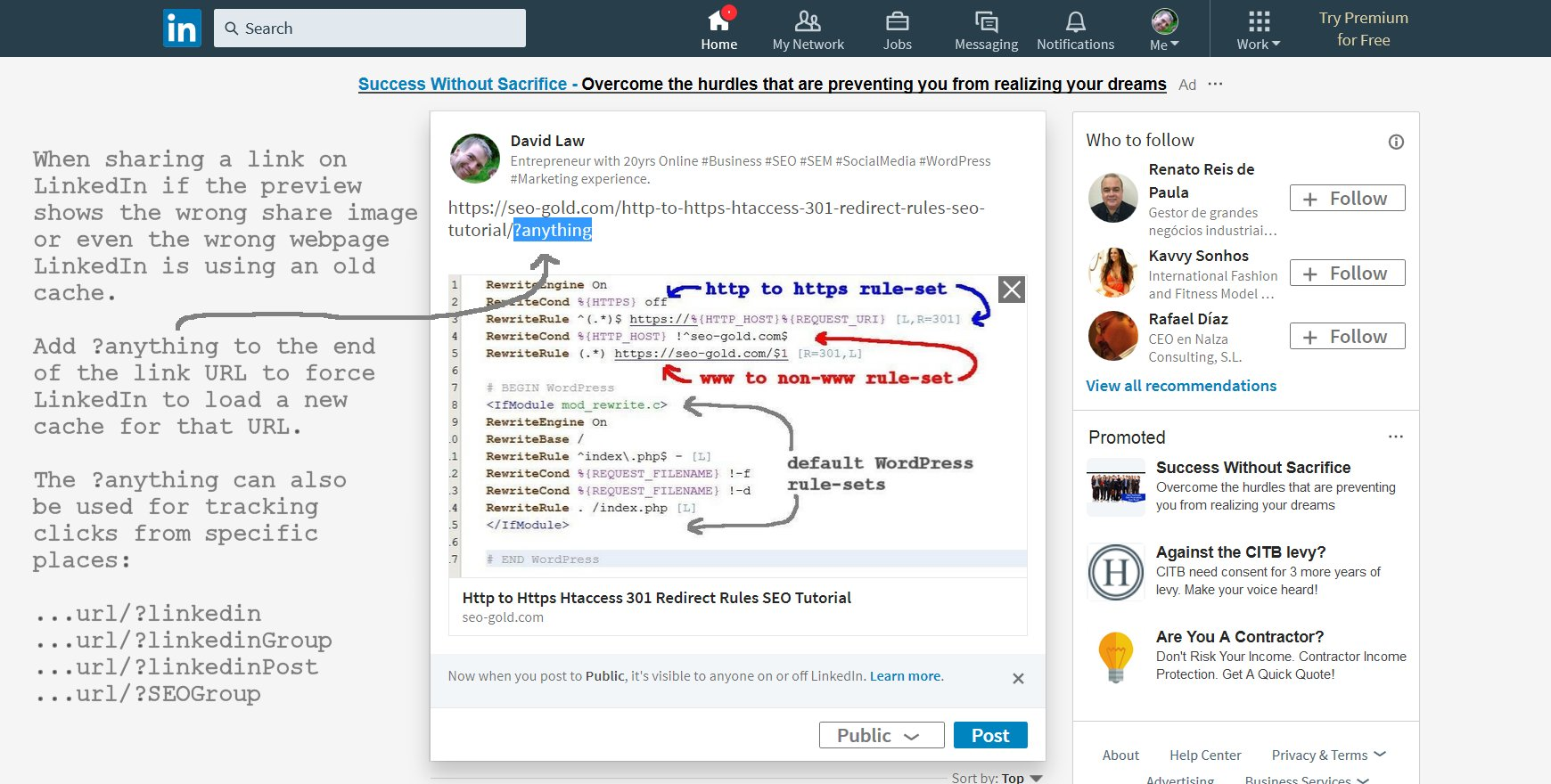 Clearing the LinkedIn Link Sharing Image Preview Cache