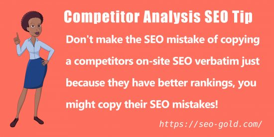 Competitor Analysis SEO Tip