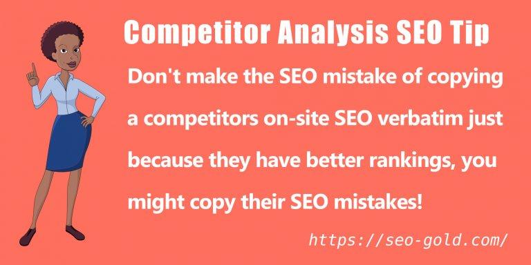 Competitor Analysis SEO Tip