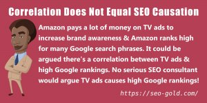 Correlation Does NOT Equal SEO Causation