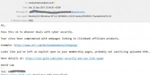 Cyber Security Email Notification