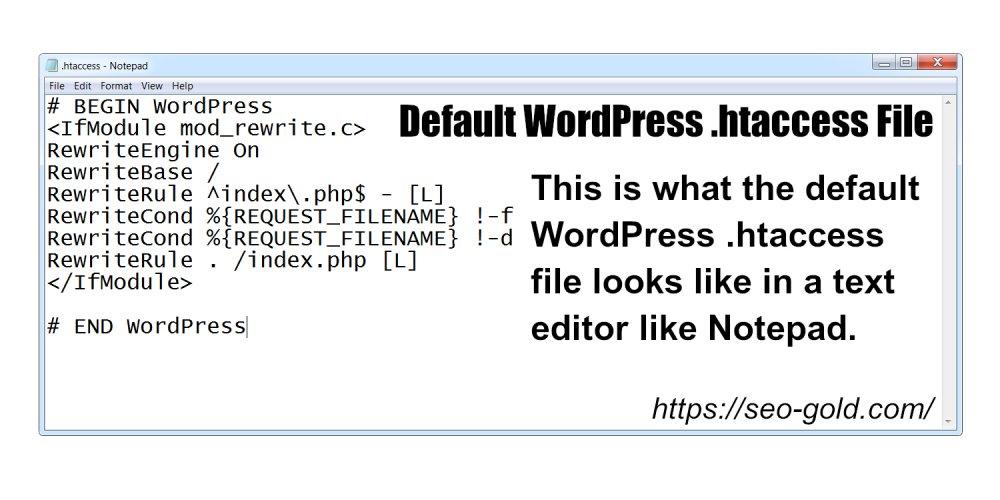Default WordPress .htaccess File