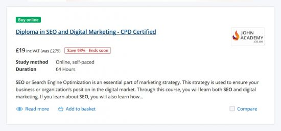 Diploma in SEO and Digital Marketing Course