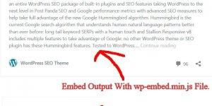 Disable Embeds WordPress Plugin