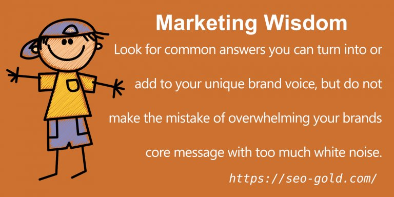 Do NOT Overwhelming your Brands Core Message with White Noise