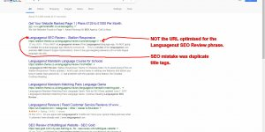 Duplicate Title Tags Resulting in Keyword Cannibalization