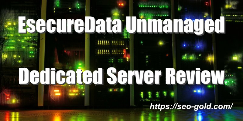 EsecureData Unmanaged Dedicated Server Review