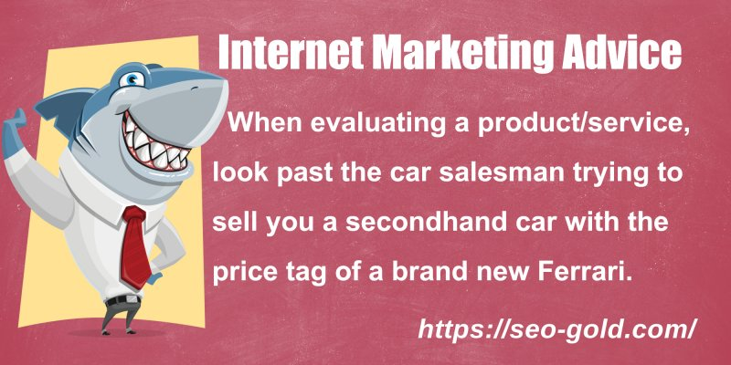 Evaluating a Product/Service Internet Marketing Advice