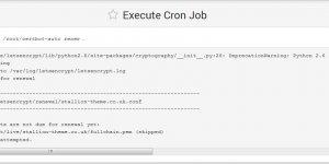 Execute Certbot Cron Job Output