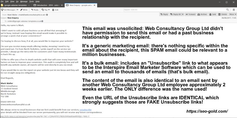 Fake Unsubscribe Links Added to SPAM Emails!