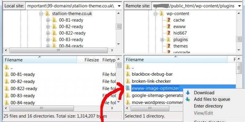 Delete a Directory Using Filezilla