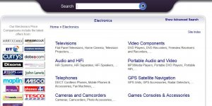 Foundem Electronics Comparison Shopping Links