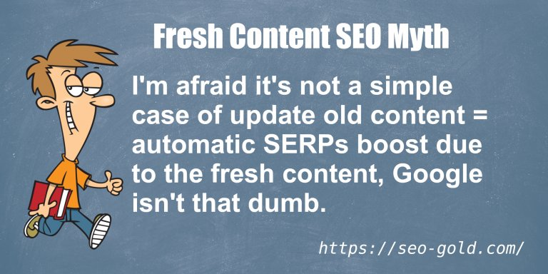 Fresh Content SEO Myth