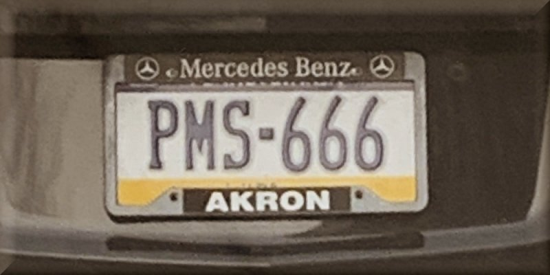 Funny PMS 666 Car License Plate