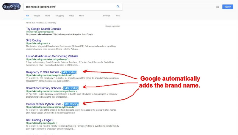Google Automatically Adds Brand Name to Titles