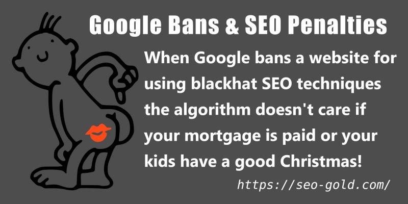 Google Bans and SEO Penalties