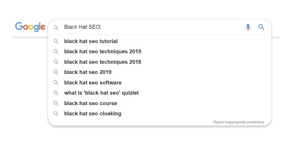 Google Black Hat SEO