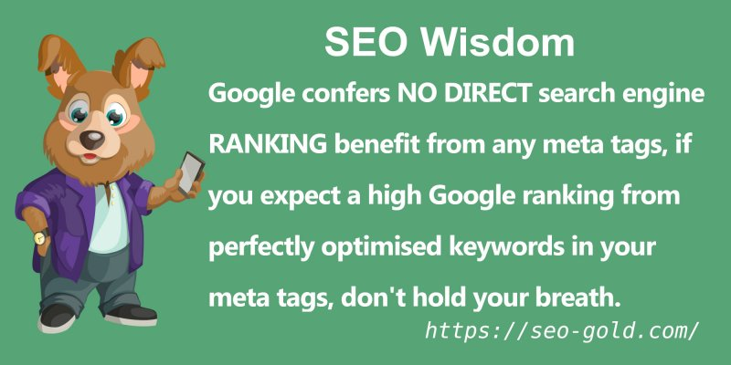 Google Confers No Direct Search Engine Ranking Benefit from Meta Tags
