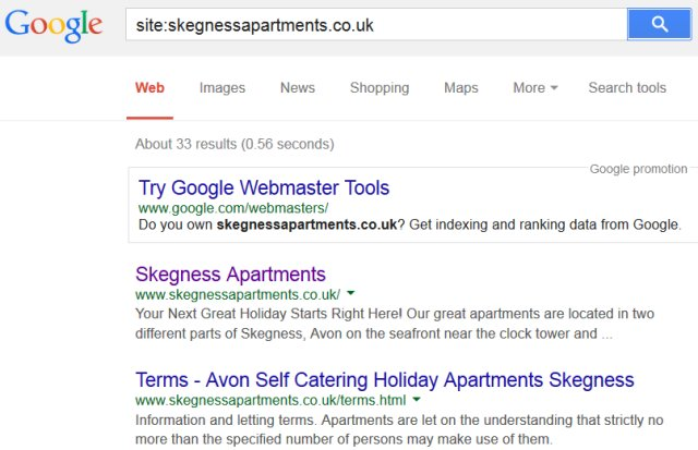 Google Domain Search Shows Roughly How Many Pages Indexed