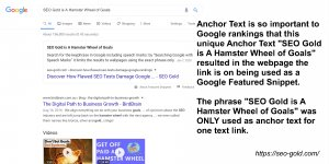 Google Featured Snippet Due to Anchor Text