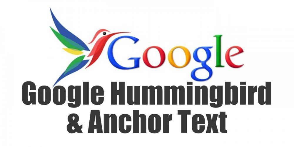 Google Hummingbird and Anchor Text