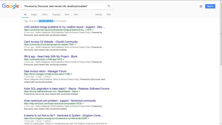 Google Indexed Hidden Text Links to Discourse.org Using Cloaking