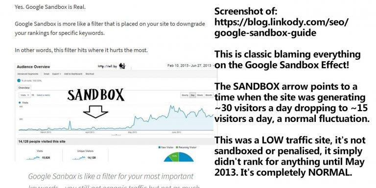 Google Sandbox Penalty Blamed for Poor Rankings