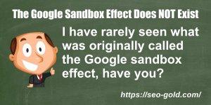 The Google Sandbox Effect Does NOT Exist