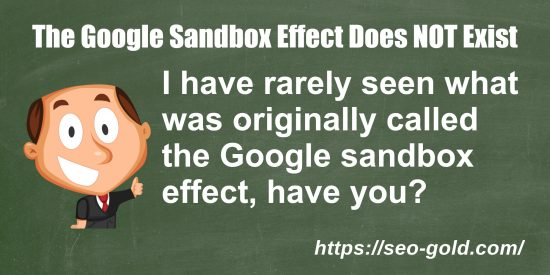The Google Sandbox Effect Does NOT Exist