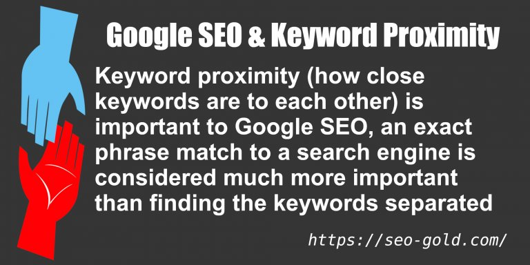 Google SEO & Keyword Proximity